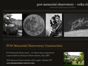 PCW Memorial Observatory